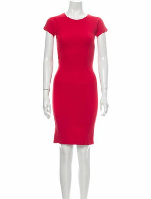 Stella McCartney Crew Neck Knee-Length Dress w/ Tags Red