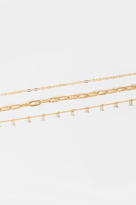 francesca's Lyric Curb Chain Layered Choker - Gold