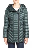 Halogen Hooded Asymmetrical Zip Down Jacket