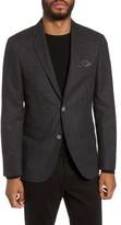 Sand Men's Trim Fit Wool & Cotton Blazer