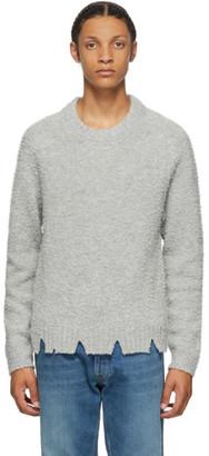 Maison Margiela Grey Wool Oversized Destroyed Sweater