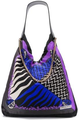Emilio Pucci x Koche Lupa-print shoulder bag