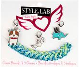 Fashion Angels Blue Woven Charm Bracelet & Charms Set