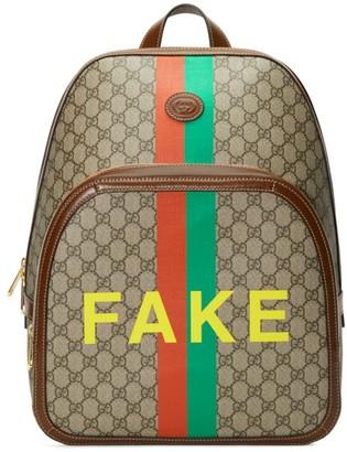 Gucci GG Supreme Fake/Not Medium Backpack