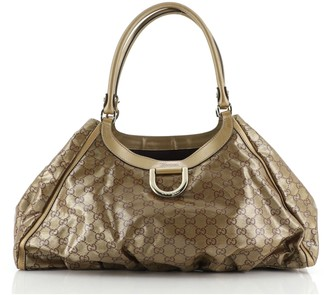 Gucci D Ring Hobo GG Coated Canvas Large