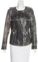 Etoile Isabel Marant Distressed Leather Jacket