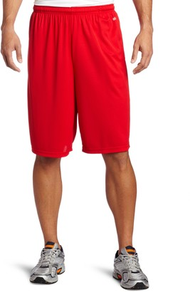 MJ Soffe Soffe Men's Extra Long Poly Closed Hole Mesh Short Red Medium