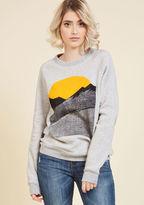 Kin Ship Alpine Shine Sweatshirt in Ecru in S