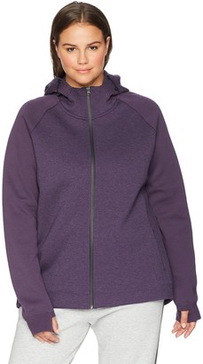 Core Products Core 10 Women's Plus Size Motion Tech Fleece Fitted Full-Zip Hoodie Jacket
