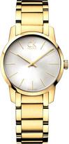 Calvin Klein K2G23546 City yellow gold-plated watch