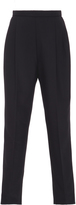 DELPOZO Black Pleated High-Rise Trousers