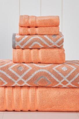Modern Threads Yard Dyed Towel 6-Piece Set - Oxford Coral