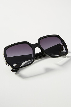 Anthropologie Claudia Oversized Sunglasses By in Black Size ALL
