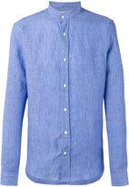 Brunello Cucinelli band collar shirt - men - Cotton/Linen/Flax - S