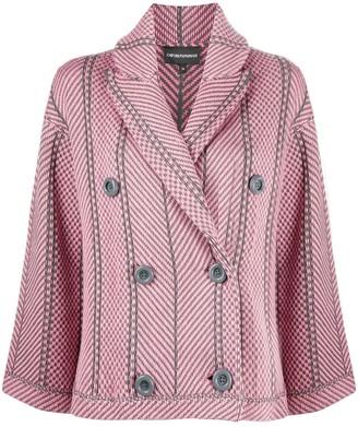Emporio Armani Stripe Double-Breasted Blazer