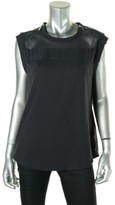 MICHAEL Michael Kors Womens Mesh Inset Panel Tank Top