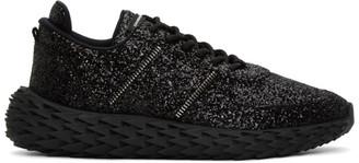 Giuseppe Zanotti Black Glitter Urchin Sneakers