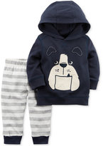 Carter's 2-Pc. Cotton Dog Hoodie and Jogger Pants Set, Baby Boys (0-24 months)