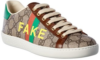 Gucci Fake/Not Leather-Trim Sneaker