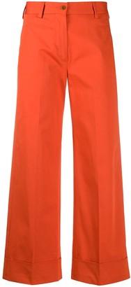 Brag Wette High-Rise Wide-Leg Cropped Trousers