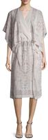 BCBGMAXAZRIA Lelah Silk Printed Midi Dress