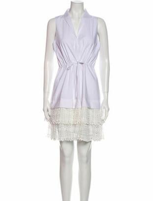 Alexis V-Neck Mini Dress w/ Tags White