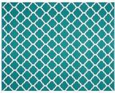 Pottery Barn Becca Tile Reversible Indoor/Outdoor Rug - Teal