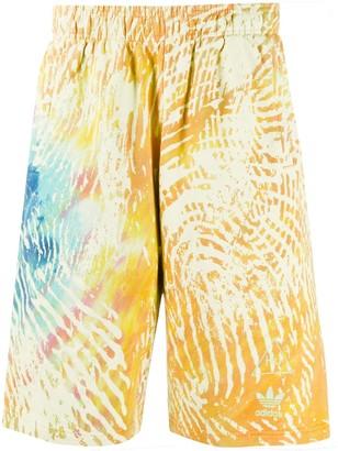 Y-3 Tie-Dye Print Track Shorts