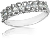 Forzieri 0.37 ctw Nine-Stone Diamond 18K White Gold Ring
