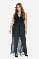 Fashion to Figure Jax Ruffle Chiffon Maxi Dress