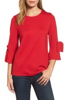 Halogen Women's Knot Bell Sleeve Top