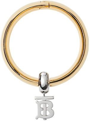 Burberry Gold-plated Monogram Motif Bangle