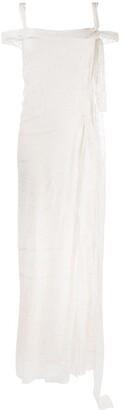 Alberta Ferretti Broderie Anglaise Layered Dress