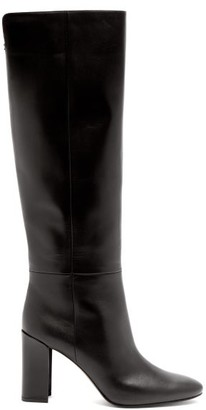 Nicholas Kirkwood Elements Mirror-heel Leather Knee-high Boots - Black