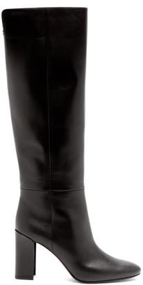 Nicholas Kirkwood Elements Mirror-heel Leather Knee-high Boots - Womens - Black