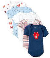Rene Rofe Newborn/Infant Boy) 5-Pack Teddy Bear Bodysuits
