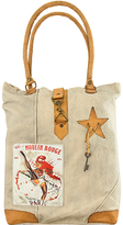 Vintage Addiction Tan 'Moulin Rouge' Canvas Tote