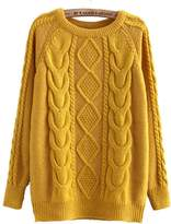 E-Shine Women's Knitted Twist Pullover Sweater