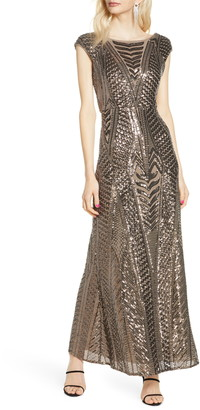 Morgan & Co. Art Deco Sequin Gown