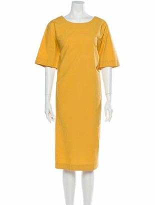 Toogood Scoop Neck Midi Length Dress Yellow