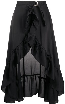 Sandro Paris Lona ruffled-trim skirt