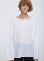 Dries Van Noten white caley top