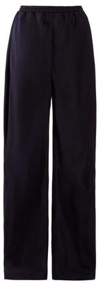 Chloé High-rise Straight-leg Twill Trousers - Womens - Navy