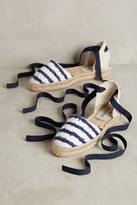 Manebi D'Orsay Striped Espadrilles