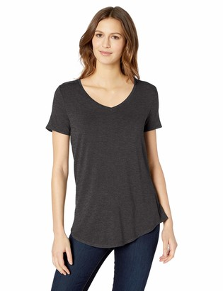 Amazon Essentials Women's Solid Short-Sleeve V-Neck Tunic