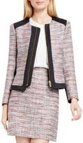 Vince Camuto Zip Front Tweed Suit Jacket