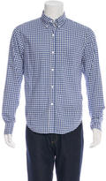 Band Of Outsiders Gingham Button-Down Collar Shirt