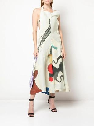 Jacquemus la robe tablier midi dress