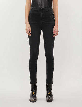 J Brand Natasha super high-rise skinny jeans