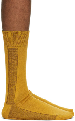 Issey Miyake Yellow Border Socks